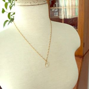 Faux Gold/diamond necklace